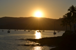 Sun rise over the Coral sea in Airlie beach