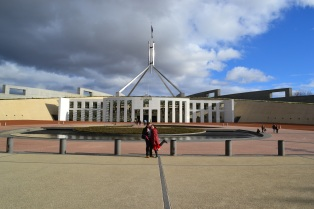 We headed to parliament house
