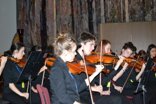 The Queensland youth orchestra was playing in Parliament house