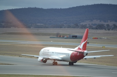 Qantas the flying kangaroo...off we went