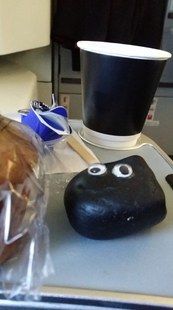 Seat 1A Bashful has some brekky