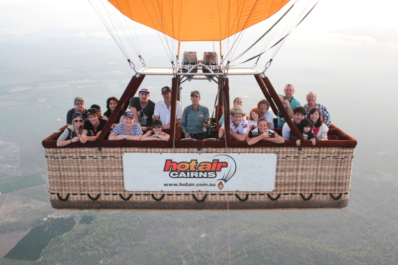 Up in the air..the Balloon takes our picture!