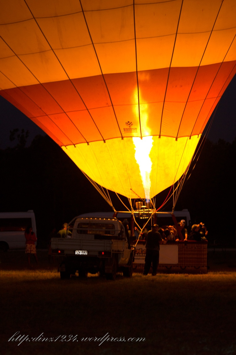 Filling the Balloon in the morning