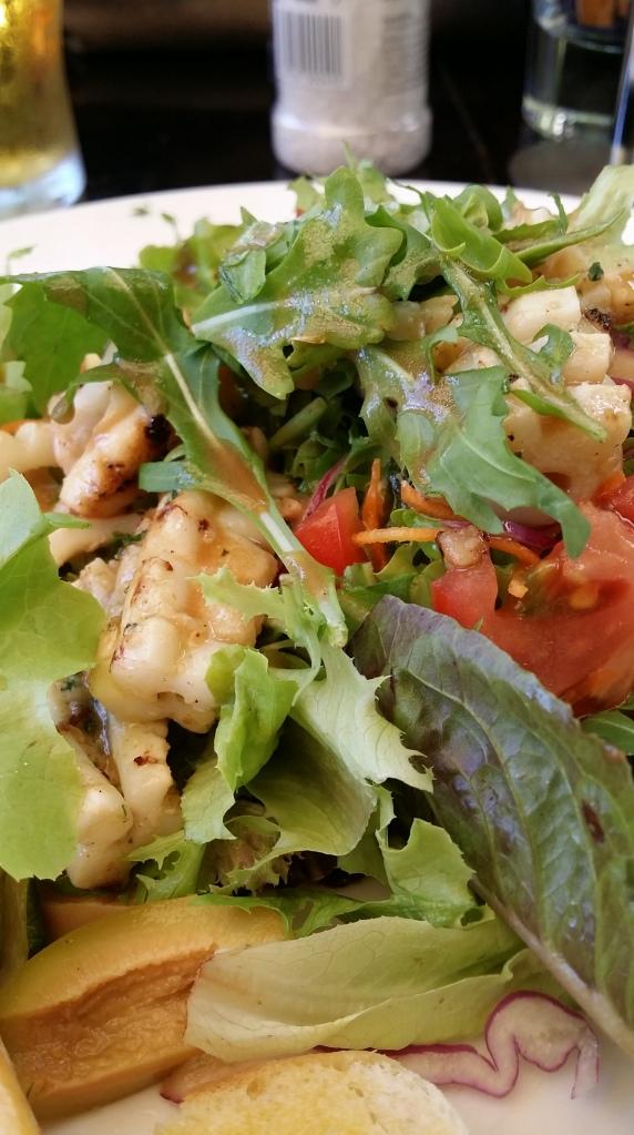 But nibbled my calamari salad!