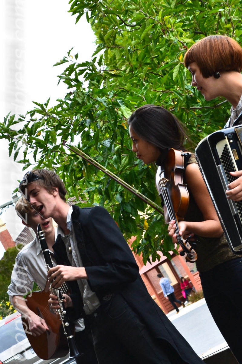 Young street musicians