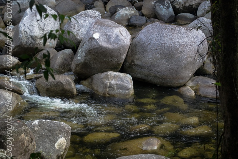 Boulders in the water