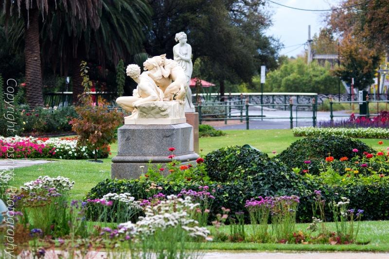 Centennial parks gardens near the conservatory